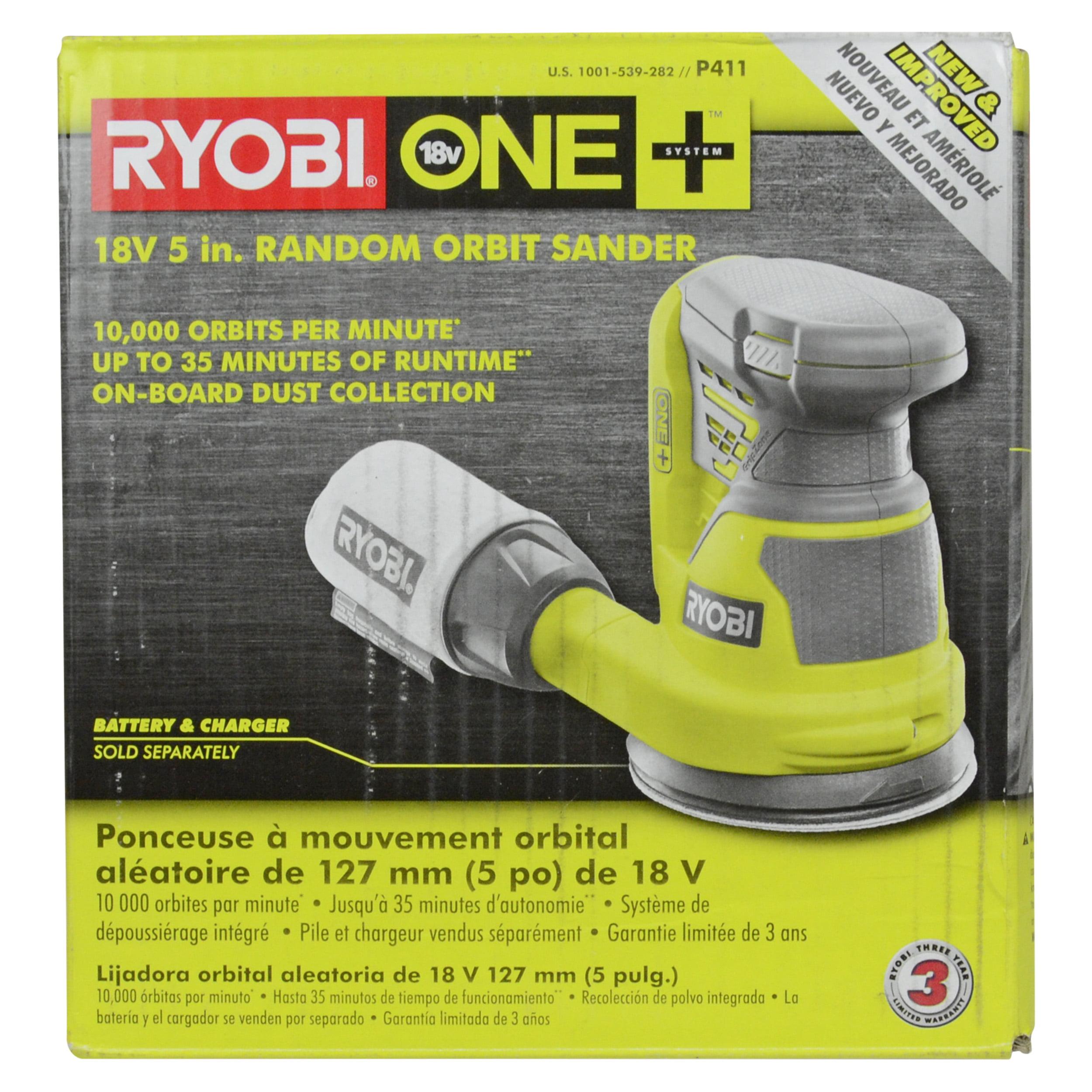 Ryobi Tools P411 18V ONE+ Lithium Ion 5� Random Orbit Sander, TOOL ONLY by