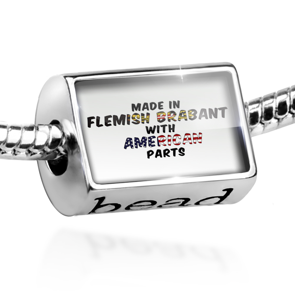 Bead American Parts but Made in Flemish Brabant Charm Fits All European Bracelets