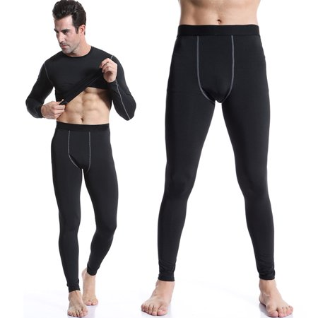 b8ab537c07 Senfloco Men's Tight Athletic Pants for fitness Compression Trousers, 6  Colors, Black - Walmart.com