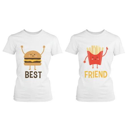 Burger and Fries BFF Shirts Best Friend Matching Tees Cute Friendship