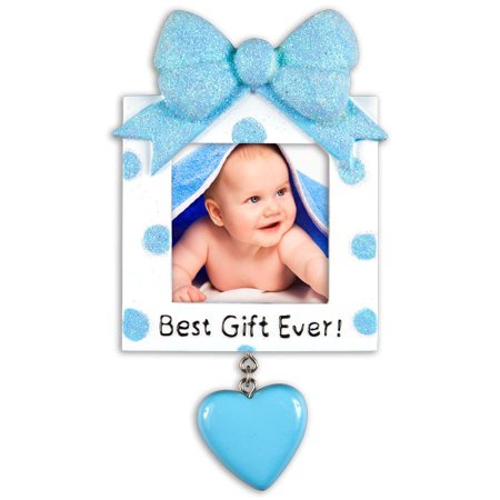 PERSONALIZED CHRISTMAS ORNAMENTS PICTURE FRAME- GREATEST GIFT EVER- LIGHT BLUE KIT
