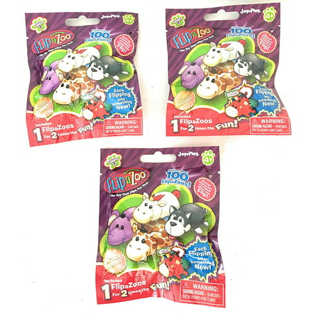 Set of 3: FlipaZoo Blind Bags SERIES 1 Mini Collectible