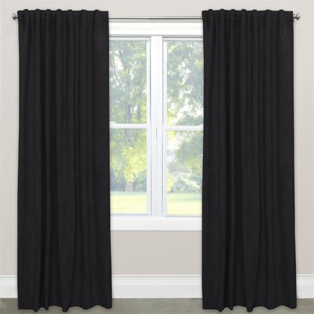 Skyline 96  Blackout Window Curtain Panel In Velvet Black