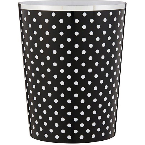 Mainstays Black and White Wastebasket