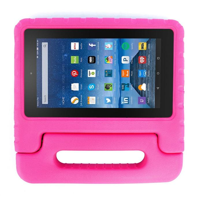 Kids Shock Proof EVA Handle Case Cover for Amazon Kindle Fire HD 7 2015 Hot Pink