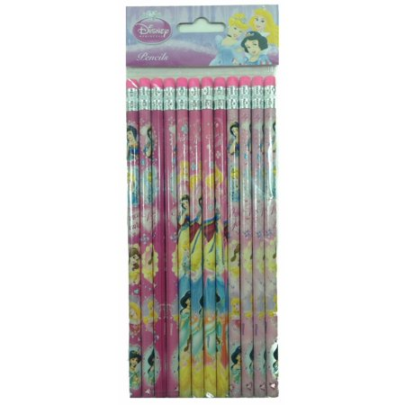 Party Favors Disney Princess Authentic Licensed 24 Wood Pencils Pack