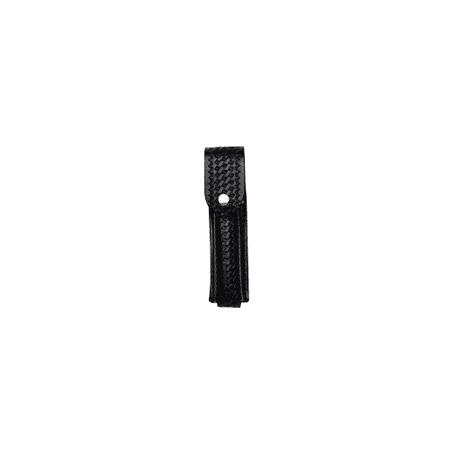Boston Leather 5560-1 Top Flap Stinger Flashlight Holder, Black, Plain Finish