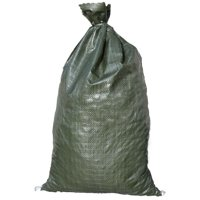 "Sandbags For Flooding - Size: 14"" x 26"" - Green - Sandbags Empty - Sandbags Wholesale Bulk - Sand Bag - Flood Water Barrier - Water Curb - Tent & Store Bags (25 Bags)"
