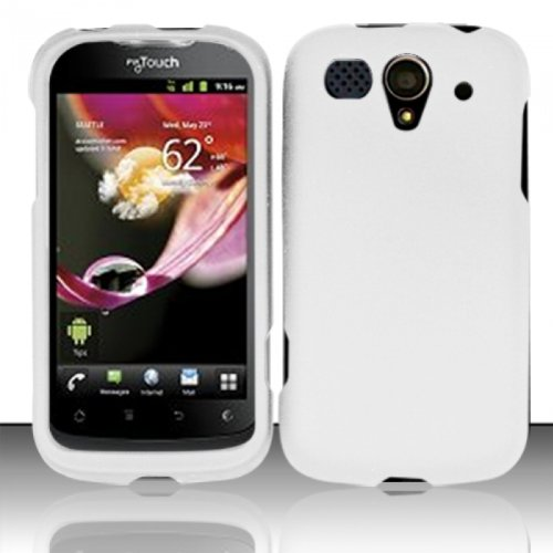 Hard Rubberized Case for Huawei myTouch U8680 - White