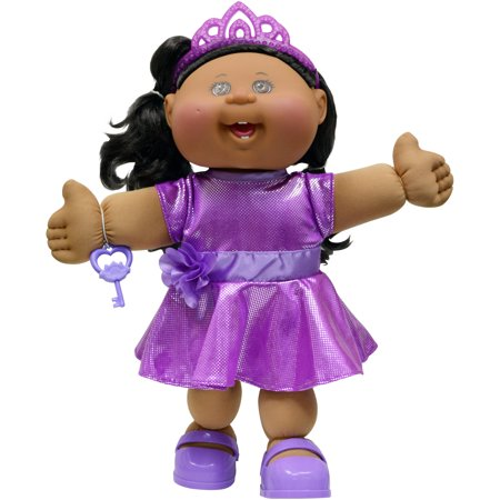 "Cabbage Patch Kids 14"" Girl, Glam, African American with Brown Eyes"
