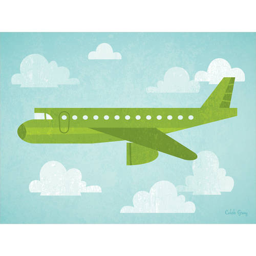 Oopsy Daisy - Airborne - Airliner Canvas Wall Art 24x18, Caleb Gray