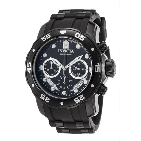 Invicta 21930 Men's Pro Diver Chrono Black Silicone And Dial