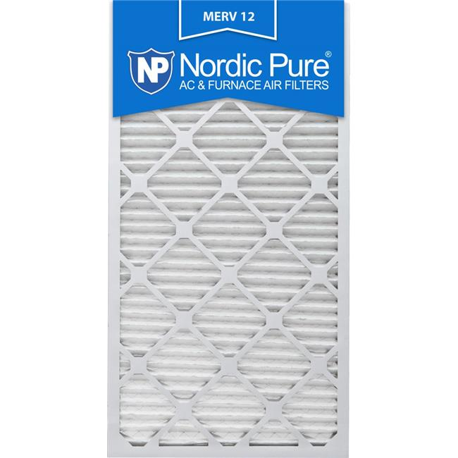 Nordic Pure 12x30x1 Exact MERV 8 Pleated AC Furnace Air Filters 3 Pack