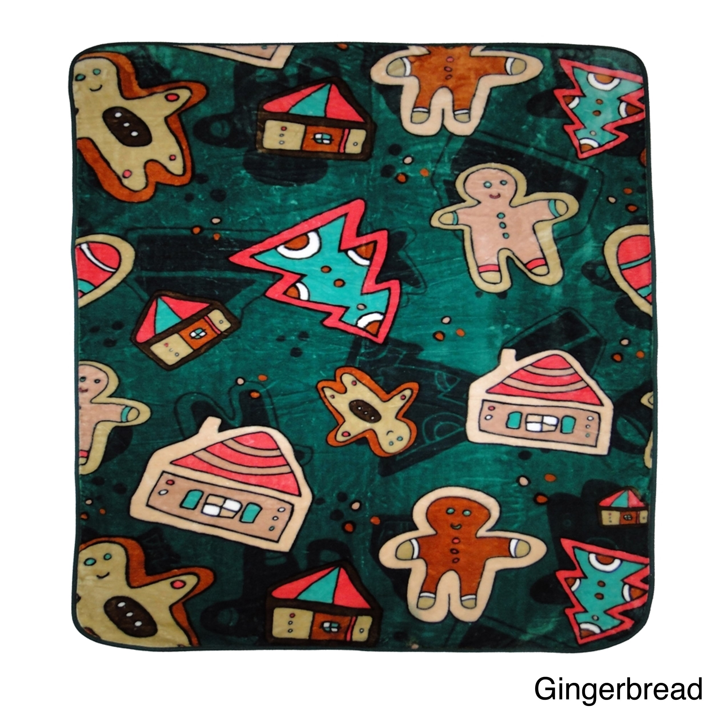 "Warm Oversized Holiday Throw- Multiple Holiday Patterns Available Gingerbread - (60""x80"")"