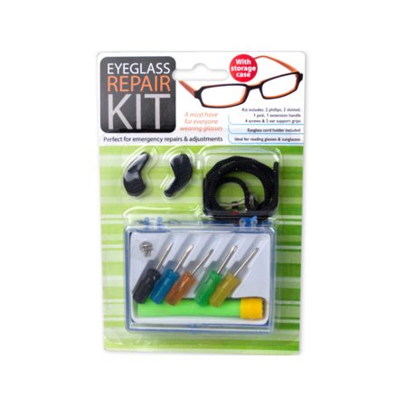 (pack of 48) Eyeglass Repair Kit with Case by bulk buys