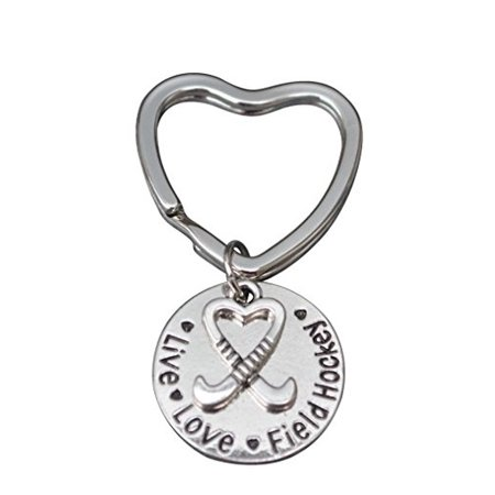 Live Love Field Hockey Keychain -