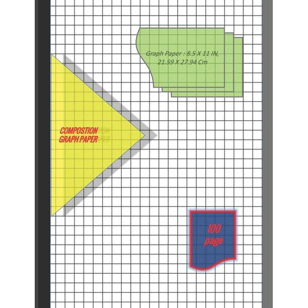Graph Paper Notebook 8.5 X 11 IN, 21.59 X 27.94 Cm : 1 & 1