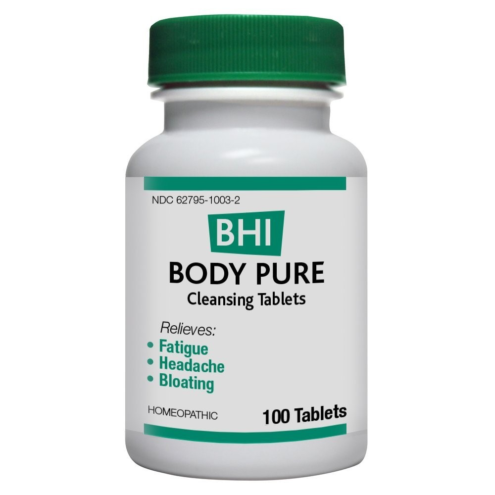 BHI Body Pure Cleansing Tablets, 100 Ct