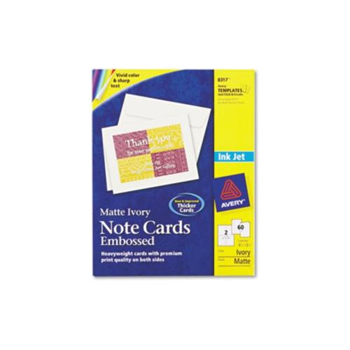 Avery Embossed Note Cards AVE8317