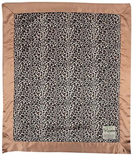 My Blankee Leopard Minky Baby Blanket, 30' X 35', Brown