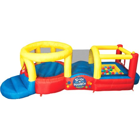 Banzai Slide 'N Bounce Activity Center (Inflatable Backyard Jump Bouncer Castle House)