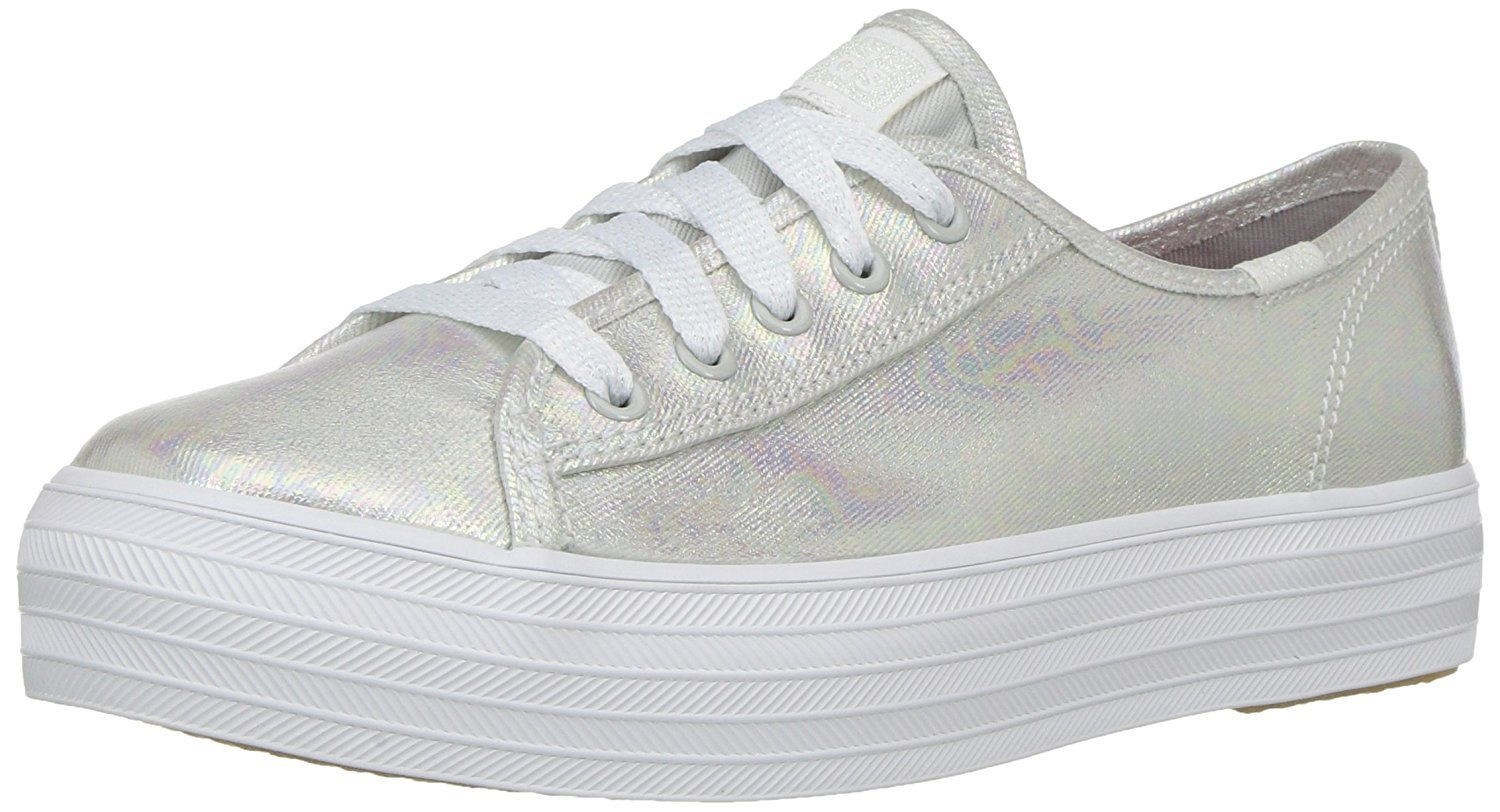Keds Triple Kick Sneaker (Little Kid Big Kid), Grey Iridescent, 6 M US Big Kid by Keds