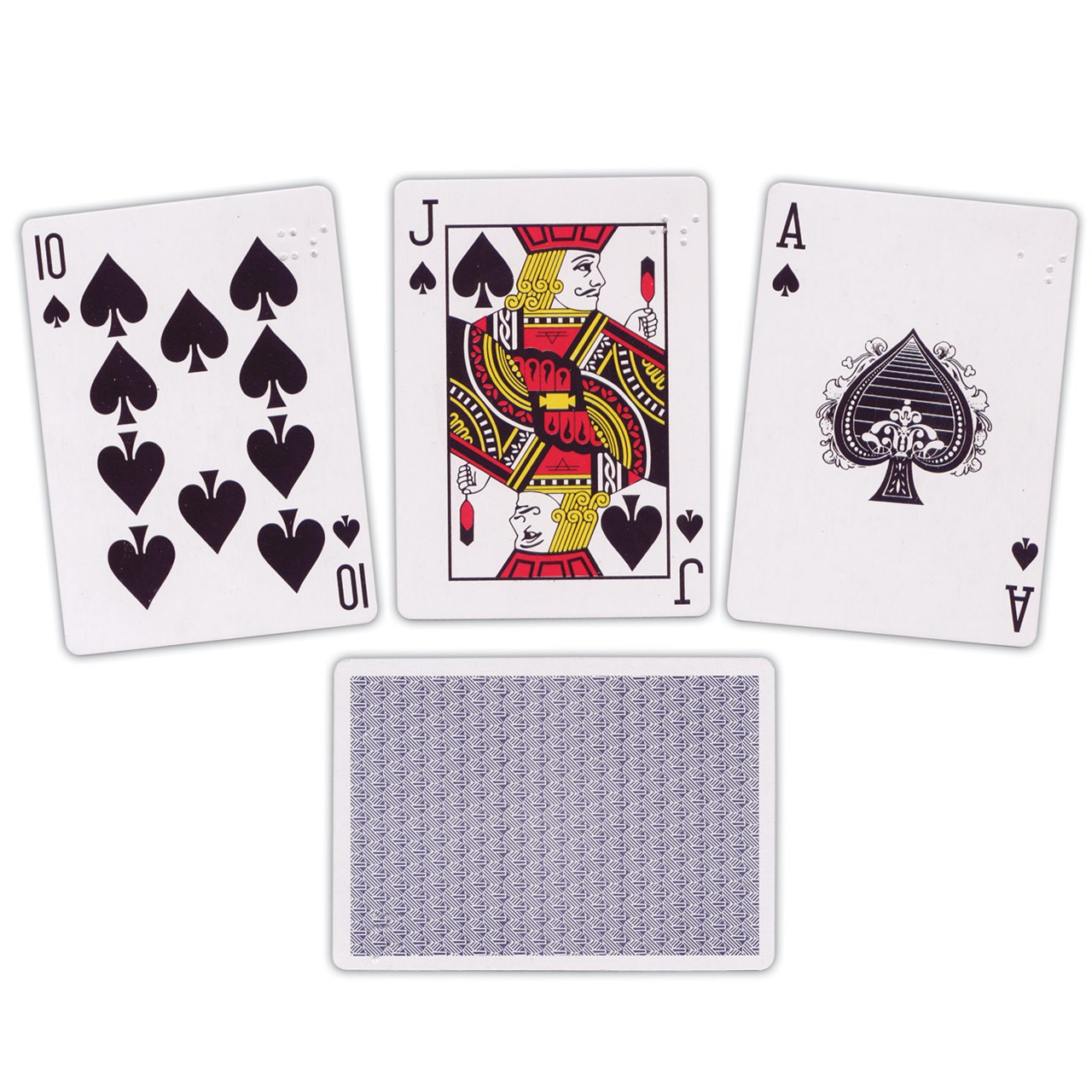 Braille Playing Cards- Brailled One Corner Only - Walmart.com