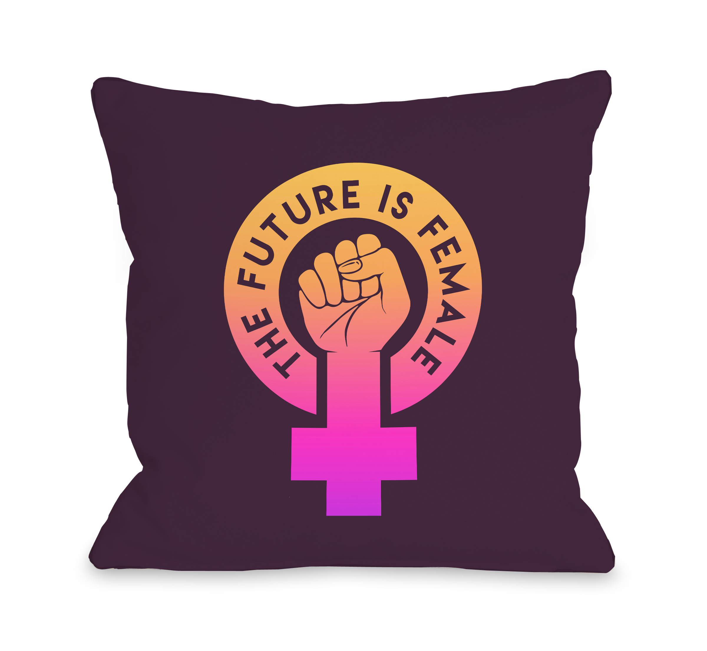 The Future Is Female - Purple 16x16 Pillow by OBC