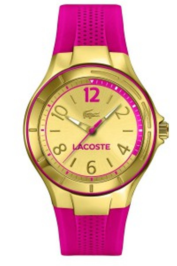 Women's Gold Acapo Pink Silicone Strap Watch 2000878