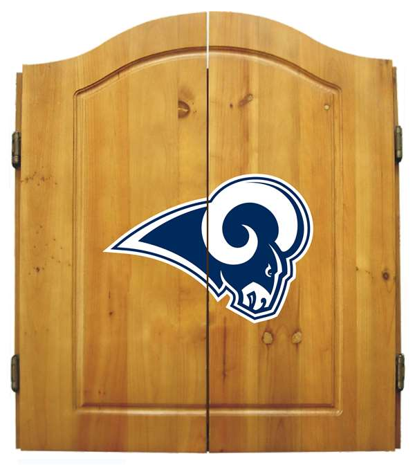Los Angeles Rams Dartboard Dart Cabinet Set by Imperial