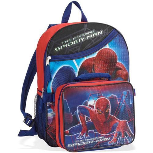 """16"""" Spiderman Backpack With Dual Lunchpa"""