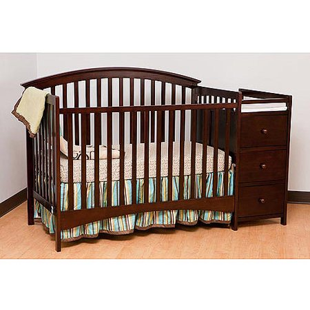 Complete your baby's nest with the Providence 4-in-1 Convertible Crib from Delta Children. Its beadboard detailing, rounded accents and contrasting trim in a rustic, textured finish will instantly add charm.