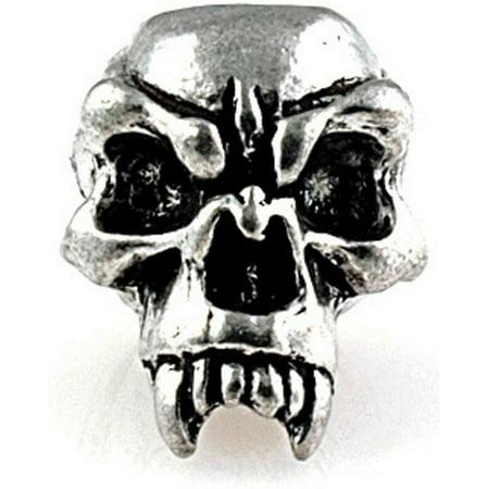 Schmuckatelli SMUKFP Fang Skull Bead Pewter .625
