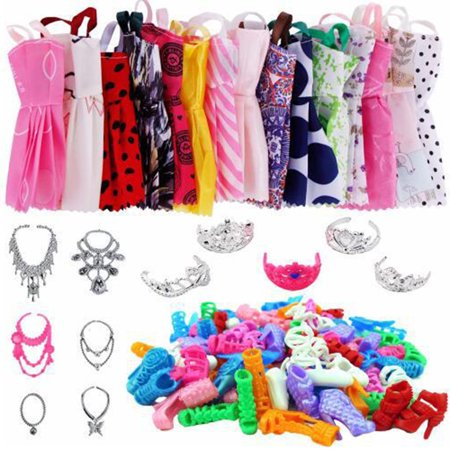 Baby Doll Accessories, 35 pieces of clothes accessories (opp bag)