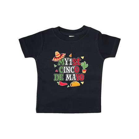 Red Hot Chili Peppers Baby Onesie (My 1st Cinco De Mayo with Sombrero Red Chili Pepper Taco and Cactus Baby)