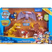 PAW Patrol, Dino Rescue Set with 6 Collectible Pup and Dinosaur Figures, Walmart Exclusive