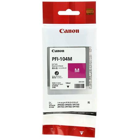 Canon PFI-104 Magenta Ink Cartridge, 3631B001AA ()