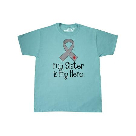 Diabetes Awareness Ribbon Sister is my Hero T-Shirt - Diabetes Awareness Ribbon