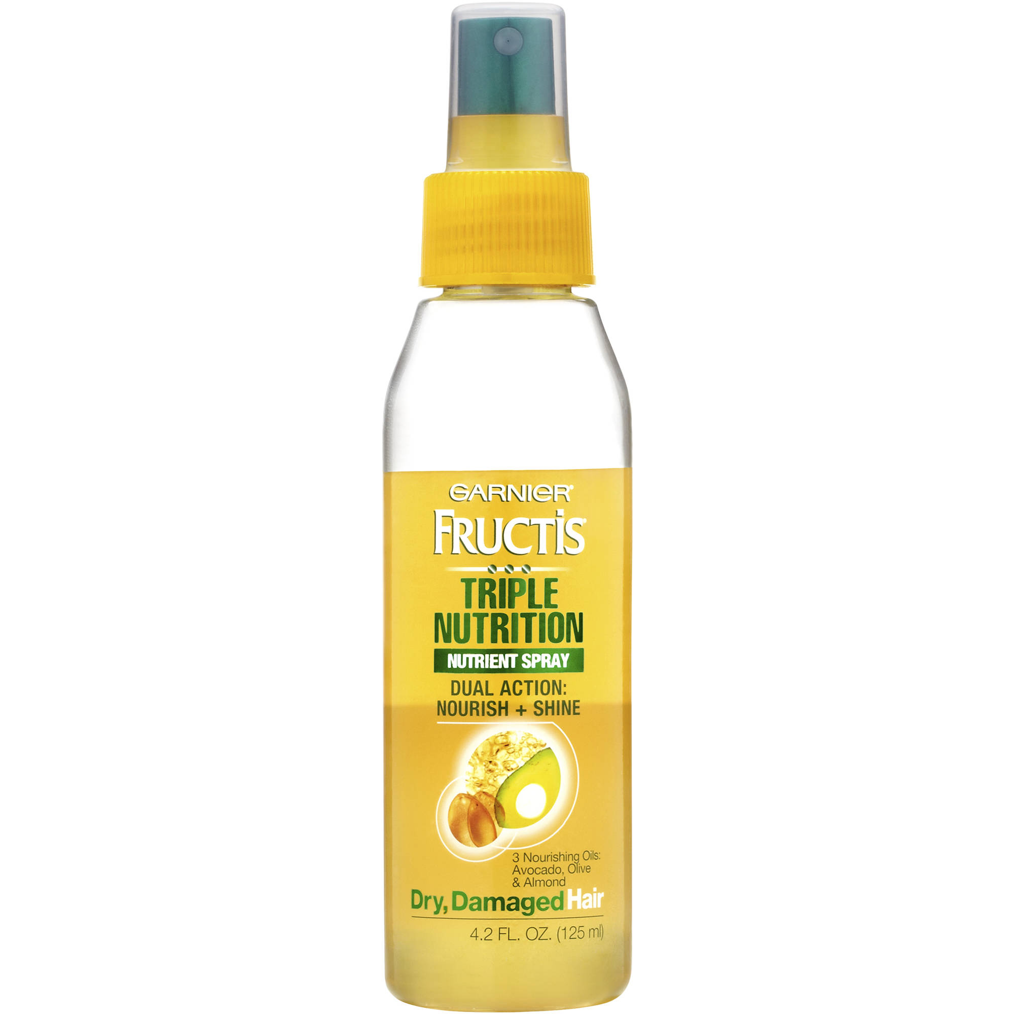 Garnier Fructis Triple Nutrition Nutrient Spray for Dry, Damaged Hair, 4.2 fl oz