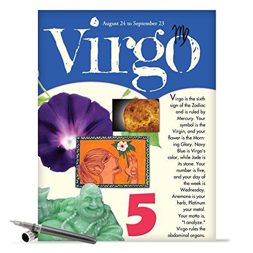 "J9447 Jumbo Funny Birthday Card: 'Virgo' with Envelope (Jumbo Size: 8.5"" x 11"")"