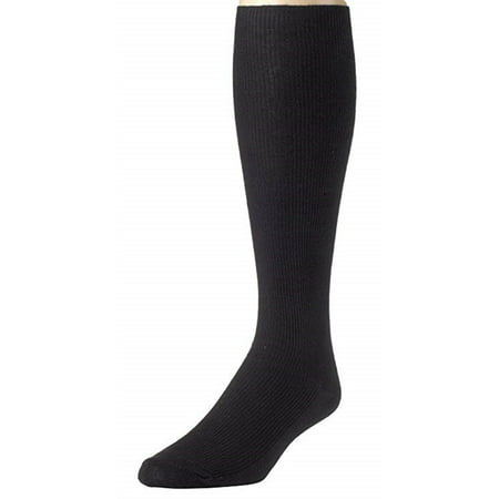 Mens Knee High Long Socks Soft and Lightweight Ribbed Cotton Blend (Lightweight Knee High Socks)