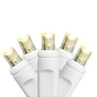 35ct Warm White Twinkling LED Wide Angle Christmas Light Set 4 Light Curtain