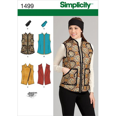 Simplicity Misses' Size 6-14 Jackets & Coats Pattern, 1 - Jacket Simplicity Pattern