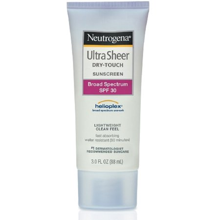 Neutrogena Ultra Sheer Dry-Touch Sunscreen Lotion, SPF 30, 3 oz (Pack of 3)