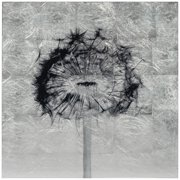 "Empire Art Direct Dandelion Reverse Printed Tempered Glass with Silver Leaf Wall Art, 24"" x 24"" x 0.2"", Ready to Hang"