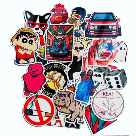 50pcs Random Skateboard Vinyl Decal Graffiti Sticker Laptop Luggage Car Bomb Decal stickers