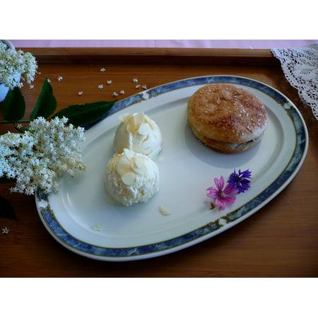 LAMINATED POSTER Food Flower Cake Dessert Elder Ice Cream Almond Poster Print 24 x 36