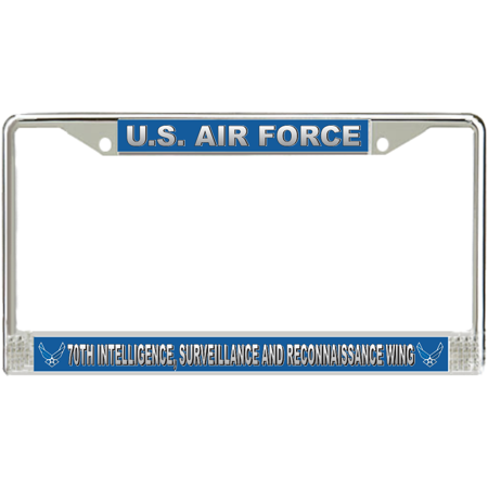 U.S. Air Force 70th Intelligence, Surveillance and Reconnaissance Wing License Plate Frame