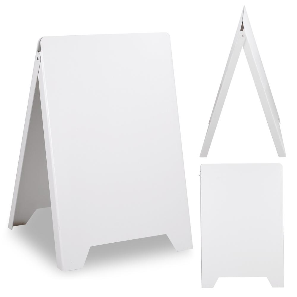 Double Side Sidewalk A-frame Sign Sandwich Board PVC White Holds 19 ...