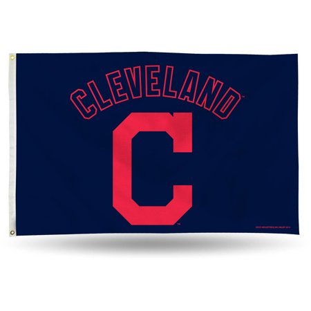Window Flags Mlb Merchandise (Rico Industries MLB 3' x 5' Banner Flag, Cleveland Indians)